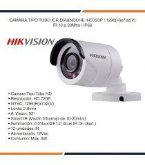 Cámara turbo HD Hikvision tubo 720 DS-2CE16COT-IRF